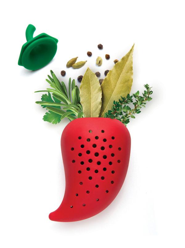 CHILI Herb Infuser ישמור על עשבי התיבול שלכם ויוסיף טעם לתבשיל