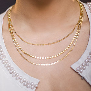 Disc Elegance Necklace By Israeli Designer Shlomit Ofir