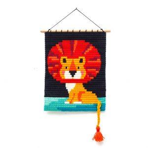 SOZO - ערכת רקמה תמונה תלויה: אריה