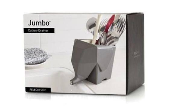 """ג'מבו (Jumbo) הפיל -מתקן לייבוש סכו""""ם / כלי למברשות שיניים בצורת פיל"""