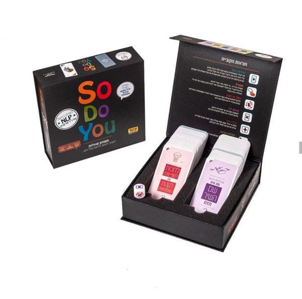 """sodoyou - סודויו משחק שאלות המפורסם מבית קדמי- """"משחקים שמחזירים את המשפחה הביתה"""" משחק קלפים"""