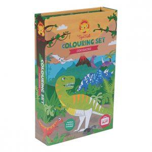 סט-צביעה-דינוזאורים