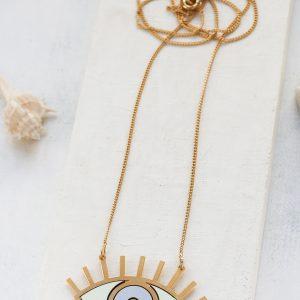 -Long-Oracle-Necklace- שרשרת עין ארוכה בעיצוב שלומית אופיר