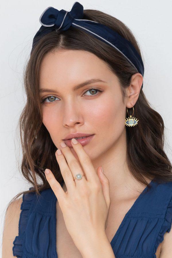 Oracle-Hoop-Earrings - עגילי חישוק אורקל מעצבת שלומית אופיר
