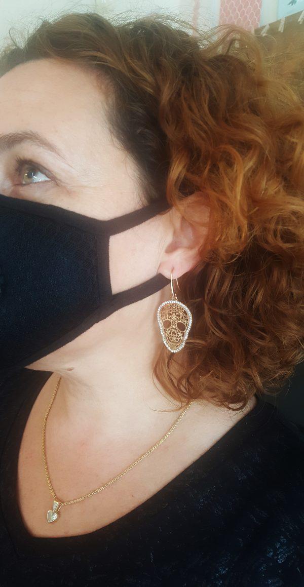Skull Drop Earrings עגיליי גולגולת תלויים