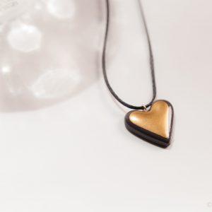 שרשרת לב זהב