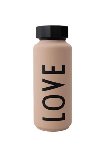 בקבוק תרמי ורוד love