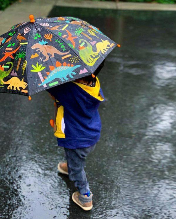מטריה מחליפה צבעים לילדים
