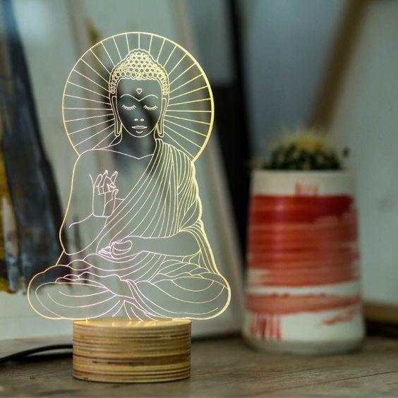 גרין קווין | מנורת לד בודהה- לשקט ושלווה בחדר השינה, קולקציית BULBING