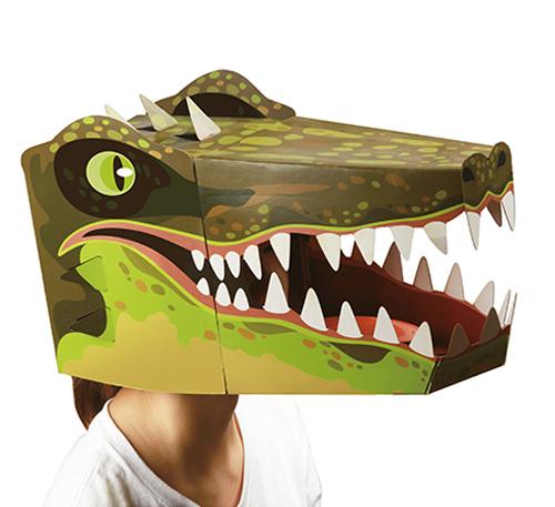 גרין קווין חנות צעצועים: מסכה לפורים, מסיכת פורים, מסכה של תנין, מסיכת תנין