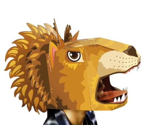 גרין קווין חנות צעצועים: מסכה לפורים, מסיכת פורים, מסכה של אריה, מסיכת אריה