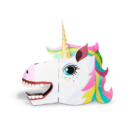 גרין קווין חנות צעצועים: מסכה לפורים, מסיכת פורים, מסכה של חד קרן, מסיכת חד קרן