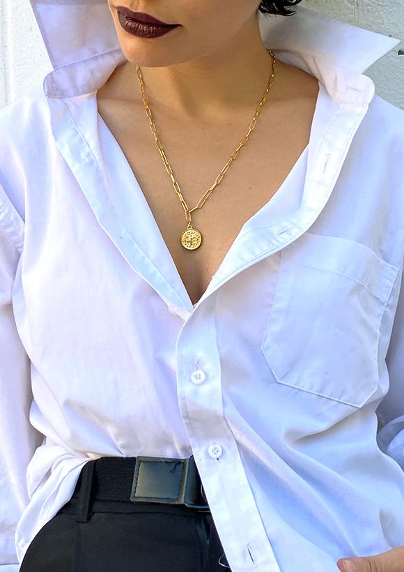 גרין קווין | חנות מתנות לאישה: שרשרת מיסטיקל: מזל זהב, בעיצוב שלי דהרי