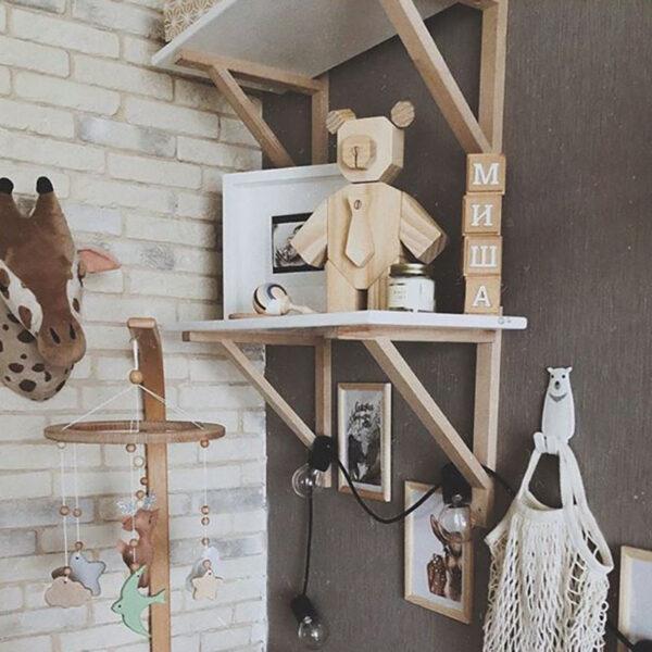 GREEN QUEEN חנות עיצוב: יצירת דובי עץ, ערכת יצירה לילדים מבית קיפוד