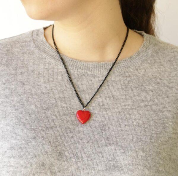 GREEN QUEEN | שרשרת לב אדום - נעמה ברוש: מתנות ליום האהבה