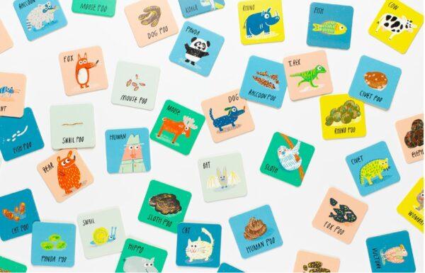 גרין קווין - חנות צעצועים אונליין: משחק זיכרון חיה והקקי שלה - מי עשה פה?