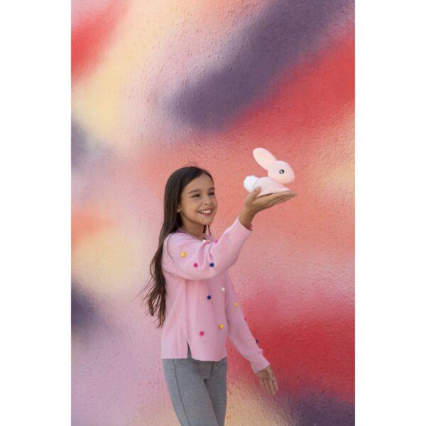 גרין קווין חנות עיצוב - מנורת לילה ארנב ורוד. עיצוב חדר ילדים, עיצוב חדרי תינוקות