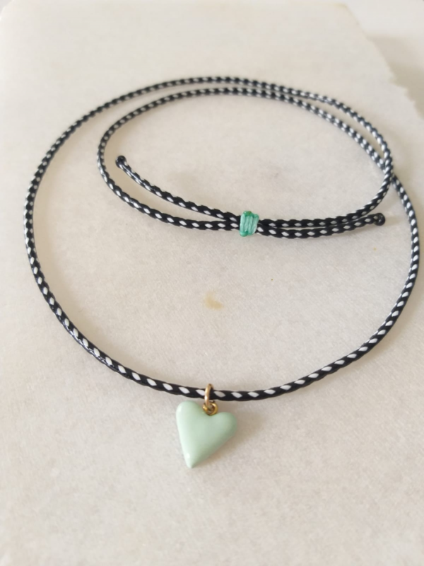 GREEN QUEEN חנות תכשיטים לאשה: שרשרת לב אקווה / טורקיז, הדס שלום
