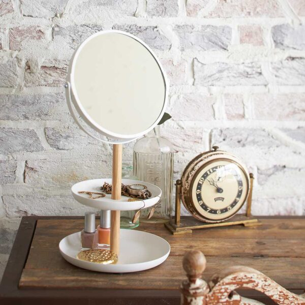 גרין קווין, חנות עיצוב הבית: מראת איפור מעמד כפול צבע לבן