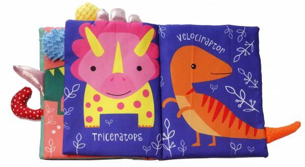 GREEN QUEEN ספר רך לתינוק - זנבות דינוזאור, צעצועים לתינוקות