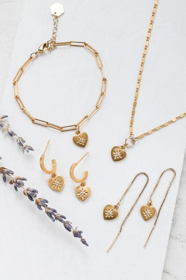 GREEN QUEEN חנות עיצוב שרשרת אמור Amour, שרשרת זהב לאישה