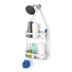 גרין קווין חנות עיצוב הבית: מתלה לאמבטיה FLEX לבן- אביזרי אמבטיה