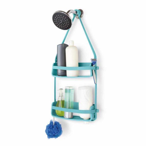 גרין קווין חנות עיצוב הבית: מתלה לאמבטיה FLEX כחול - אביזרי אמבטיה