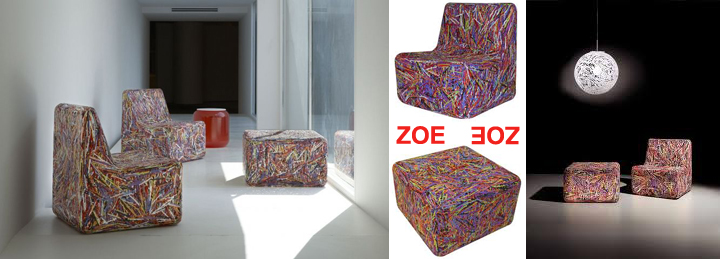 zoe,  Roberto Giacomucci, פלסטיק דחוס, המלכה הירוקה, שימוש חוזר