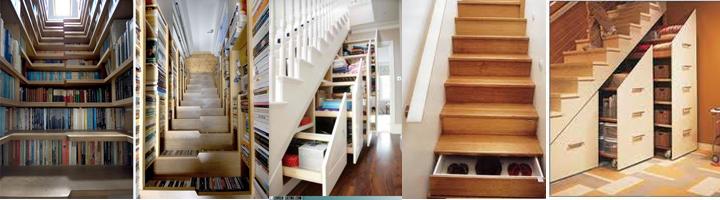 רעיונות איחסון, אחסון במדרגות, חלל מצומצם, עיצוב אקולוגי