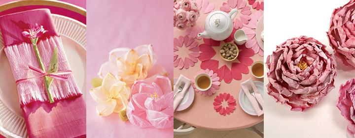 עיצוב שולחן חגיגי, ראש השנה, פרחי נייר, עבודת יד, GREEN QUEEN